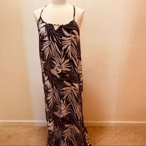Roxy Leaf Print Maxi Dress